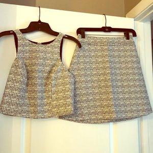 Adorable black/white tweed set from Express